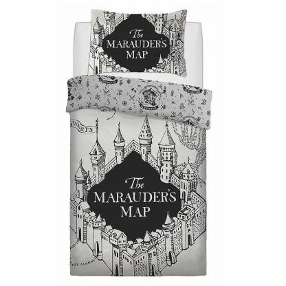 Harry Potter Single Marauders Map Quilt Cover
