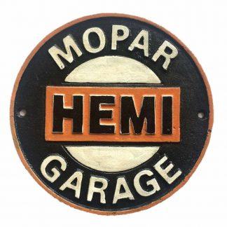 Mopar Hemi Cast Iron Sign