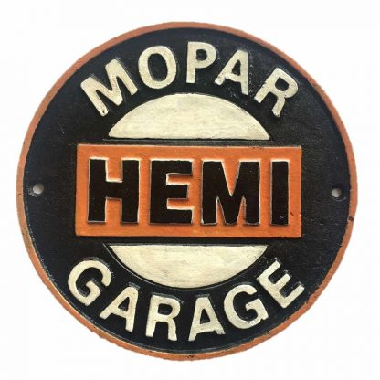 Mopar Hemi Cast Iron Sign