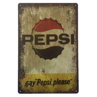 Pepsi Tin Sign