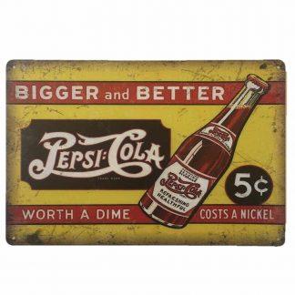 Pepsi Cola 5c Sign