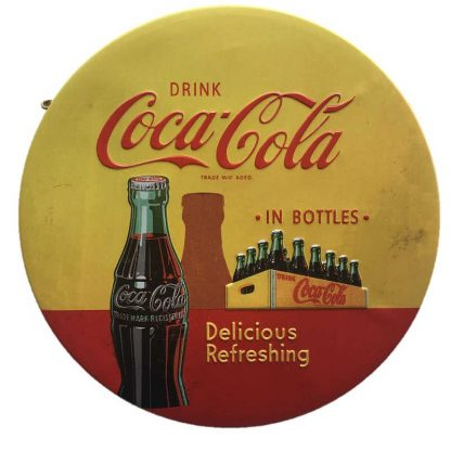 Coke Embossed Round Sign