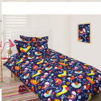 Bright Birds quilt cover