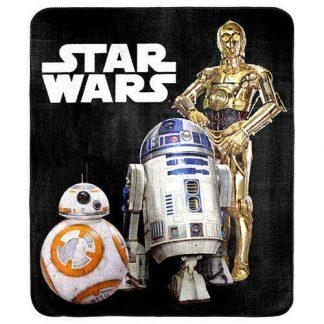Star Wars C3PO R2D2 & BB8 Throw Rug Blanket