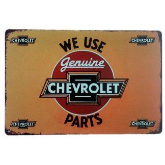 Chevrolet Tin Sign