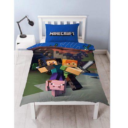 Minecraft Goodguys Single Cotton Quilt