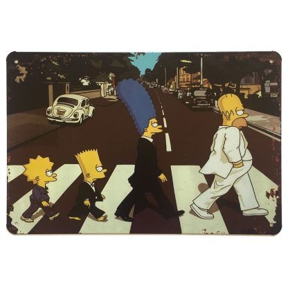 The Simpsons Abbey Road Sign