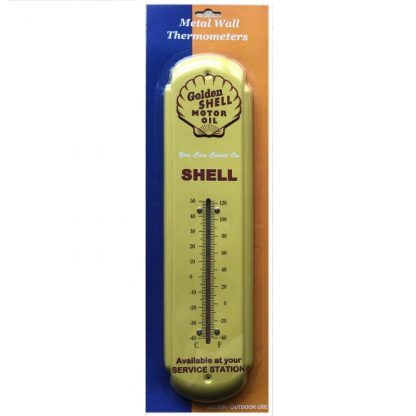 Golden Shell Metal Thermometer